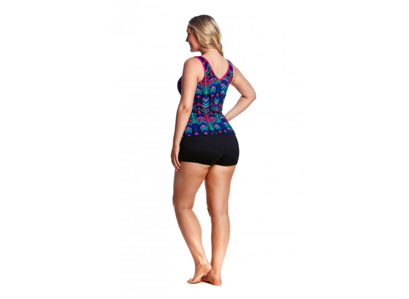 Feather Duster - Zip Front Tankini