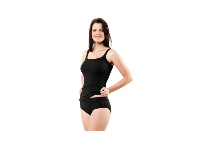 Still Black - Scoop Neck Tankini
