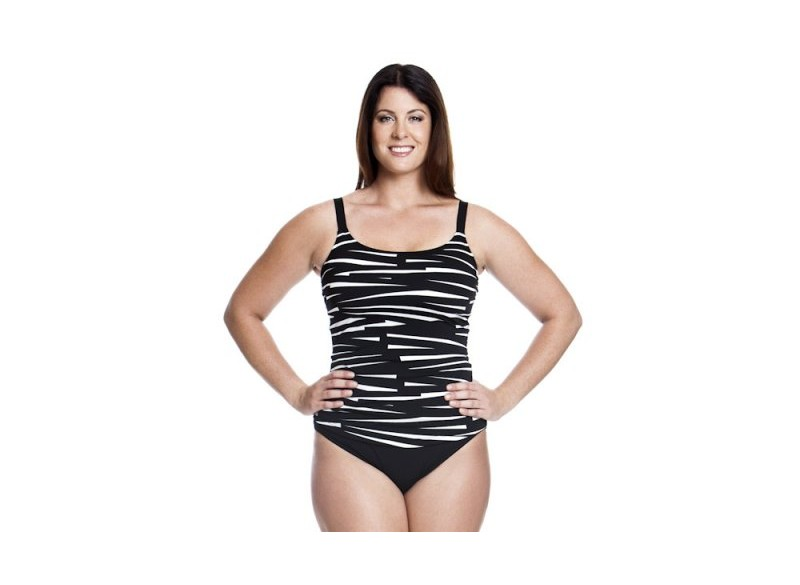 Black Bondage - Scoop Neck Tankini