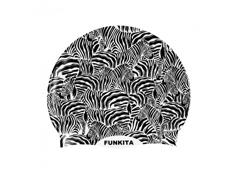 Zebra Crossing - Swimming Cap