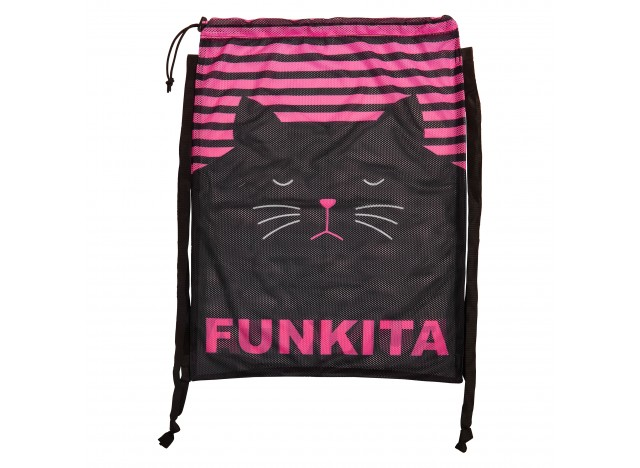 FUNKITA Printed Mesh Gear Bag - Crazy Cat
